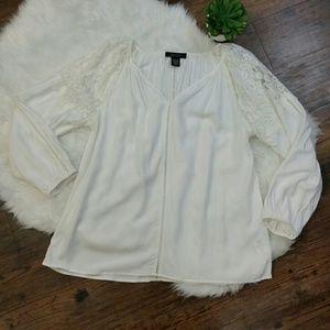KAREN KANE long sleeve blouse size med